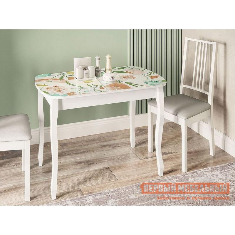 Кухонный стол  Экстра 2 Белый / Весна (фото 3)