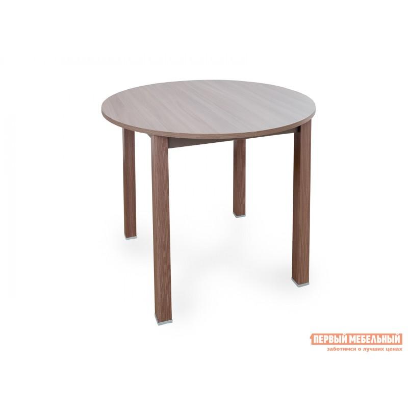 Кухонный стол  Стол обеденный раздвижной с круглой крышкой Шимо темный