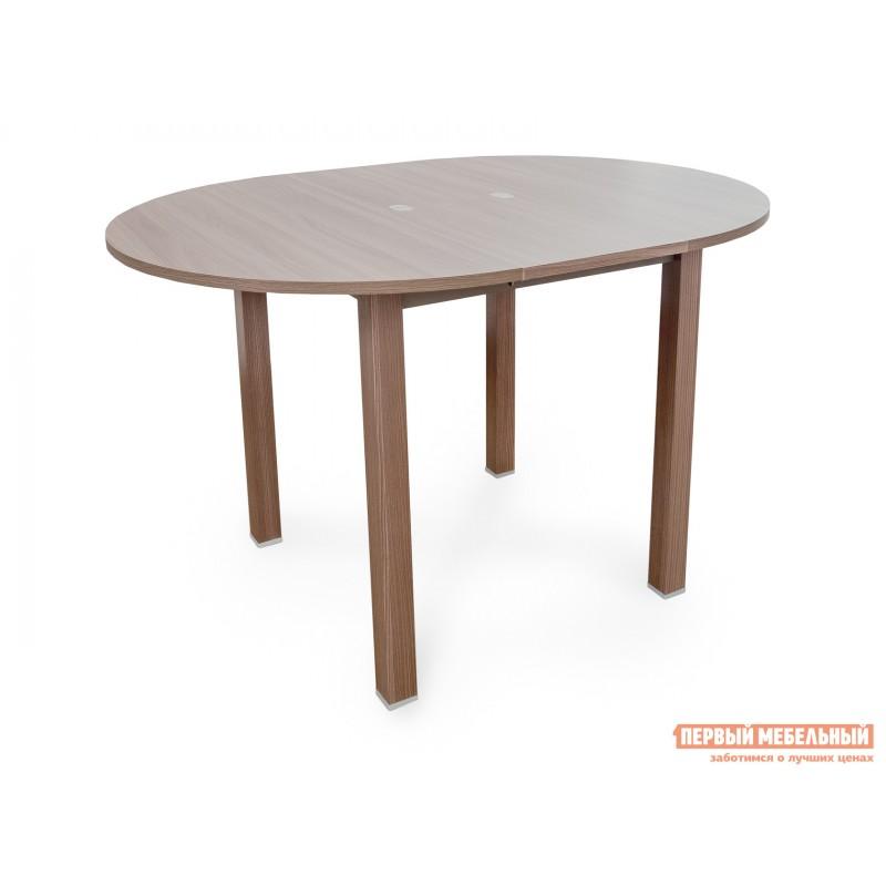 Кухонный стол  Стол обеденный раздвижной с круглой крышкой Шимо темный (фото 2)