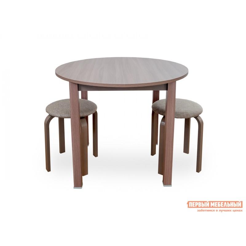 Кухонный стол  Стол обеденный раздвижной с круглой крышкой Шимо темный (фото 3)