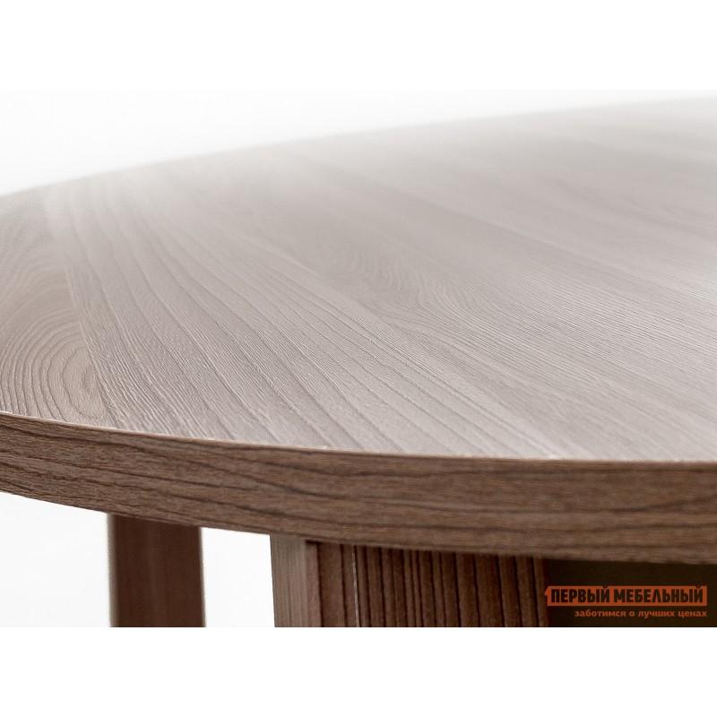Кухонный стол  Стол обеденный раздвижной с круглой крышкой Шимо темный (фото 4)