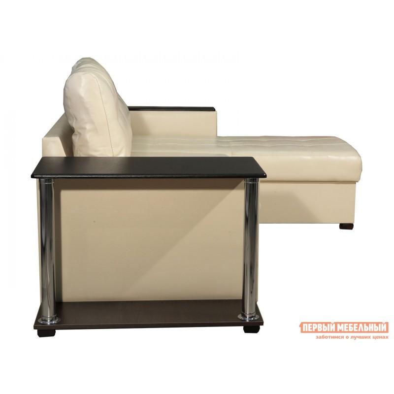 Угловой диван  Диван Атташе угловой со столиком Крем, экокожа (фото 9)