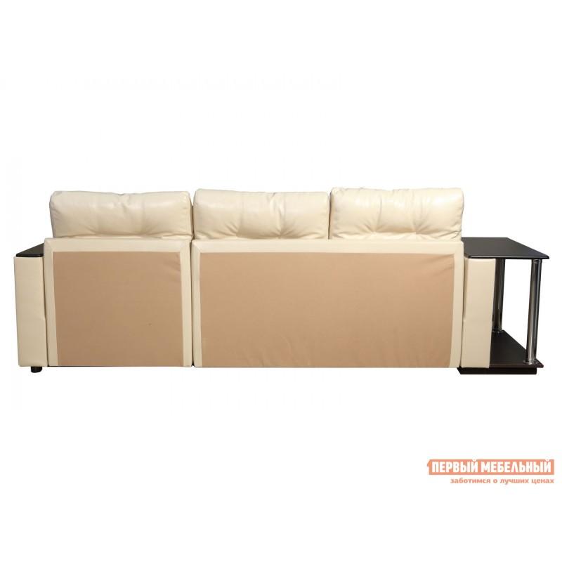 Угловой диван  Диван Атташе угловой со столиком Крем, экокожа (фото 10)