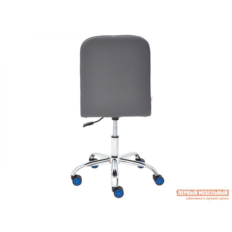 Офисное кресло  Офисное кресло RIO Синий, флок / Серый, кожзам (фото 5)