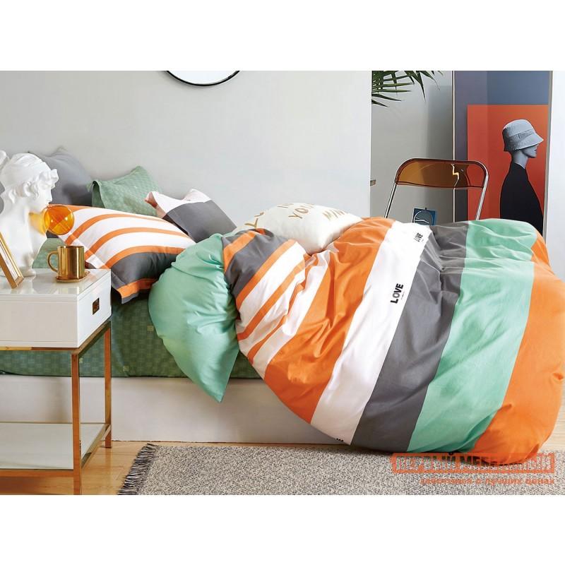 Комплект постельного белья  КПБ сатин Основа Снов мультиколор (78) Полутороспальный, Сифора