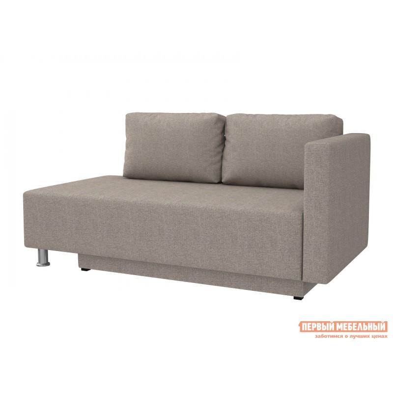 Прямой диван  Мэдисон Серо-бежевый, рогожка, Универсальная