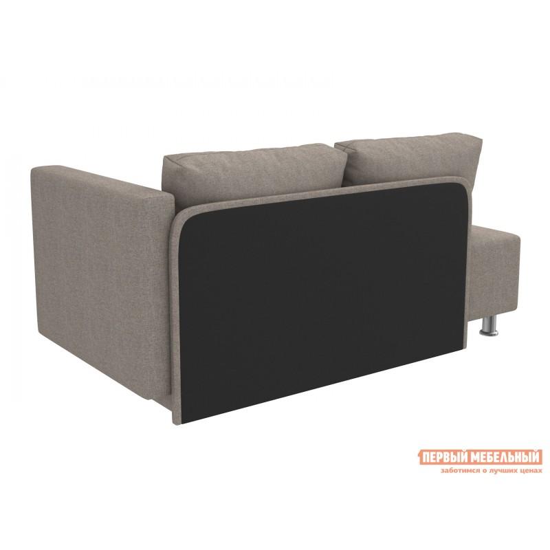 Прямой диван  Мэдисон Серо-бежевый, рогожка, Универсальная (фото 3)