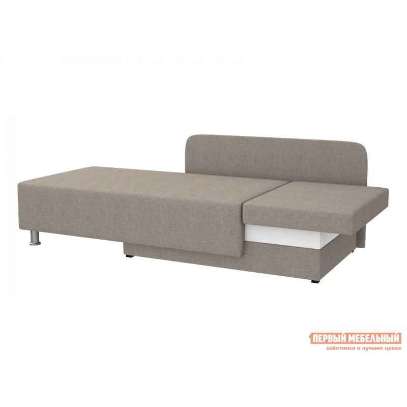 Прямой диван  Мэдисон Серо-бежевый, рогожка, Универсальная (фото 4)