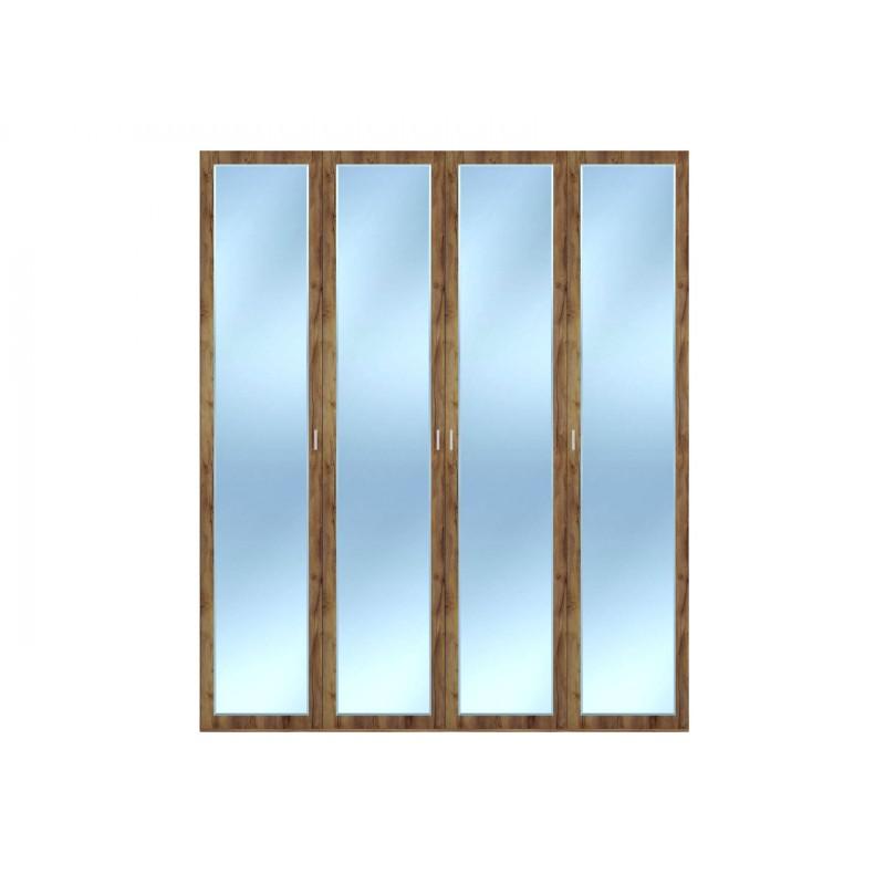 Распашной шкаф  Шкаф 4-х дверный Вега Бавария Таксония медовая, С четырьмя зеркалами, Без топа-накладки (фото 2)