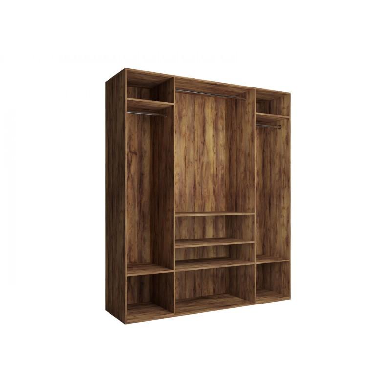 Распашной шкаф  Шкаф 4-х дверный Вега Бавария Таксония медовая, С четырьмя зеркалами, Без топа-накладки (фото 3)