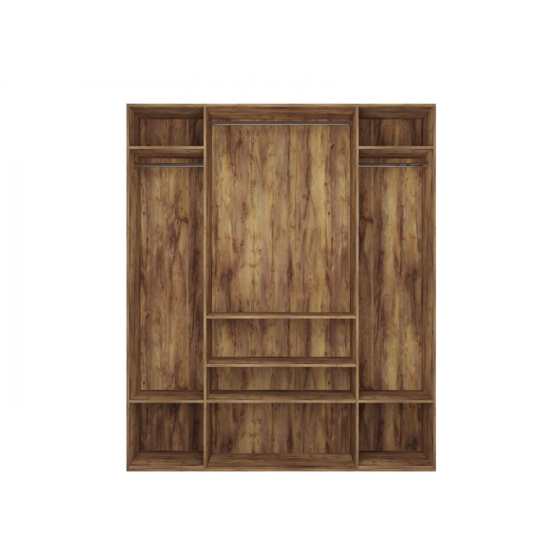Распашной шкаф  Шкаф 4-х дверный Вега Бавария Таксония медовая, С четырьмя зеркалами, Без топа-накладки (фото 4)