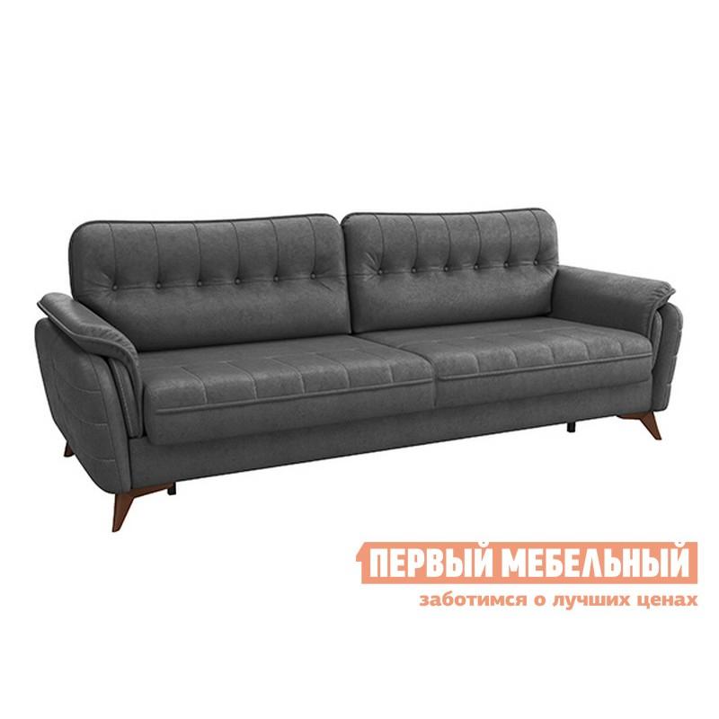 Прямой диван  Дорис диван-кровать Темно-серый, иск. замша