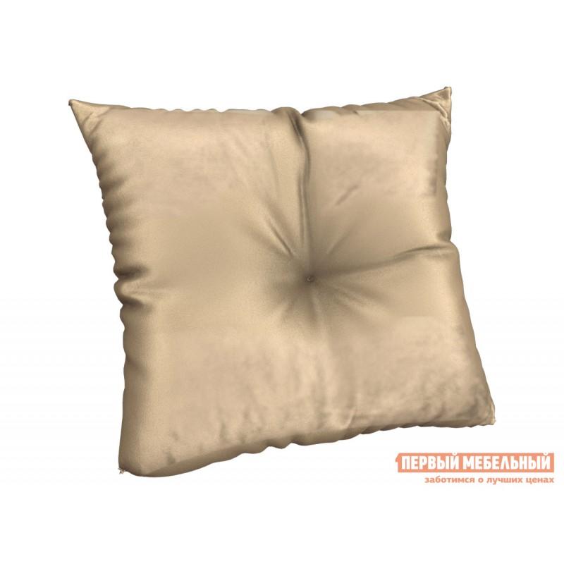 Декоративная подушка  Подушка 40х40 см, с имитац.пуговиц, SM Светло-бежевый