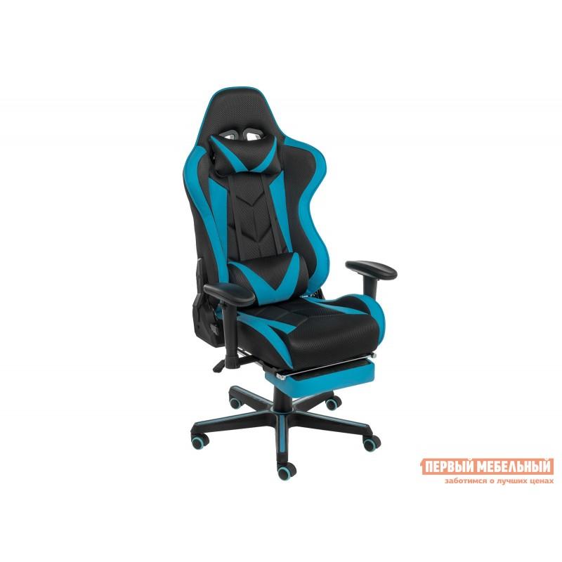 Игровое кресло  Kano Синий, иск.кожа / Черный, ткань