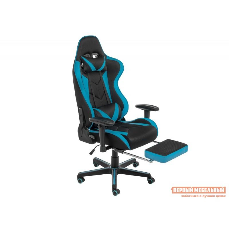 Игровое кресло  Kano Синий, иск.кожа / Черный, ткань (фото 2)