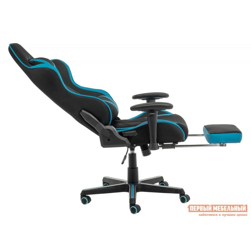 Игровое кресло  Kano Синий, иск.кожа / Черный, ткань (фото 5)