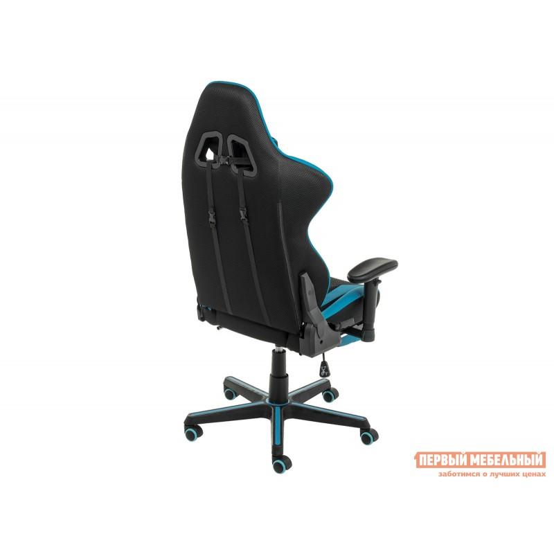 Игровое кресло  Kano Синий, иск.кожа / Черный, ткань (фото 6)
