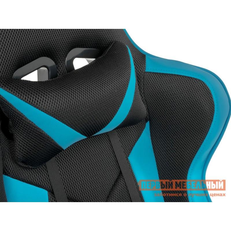 Игровое кресло  Kano Синий, иск.кожа / Черный, ткань (фото 7)