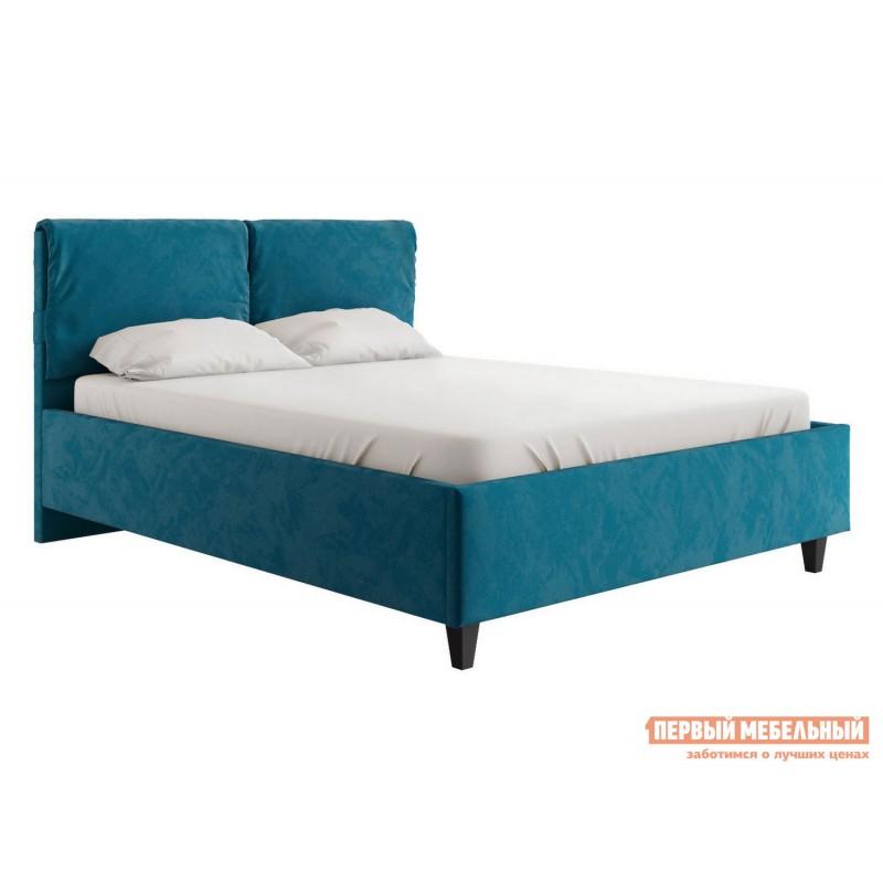 Двуспальная кровать  Кровать Лаура с подъемным механизмом 140х200, 160х200, 180х200 Синий, микровелюр, 140х200 см