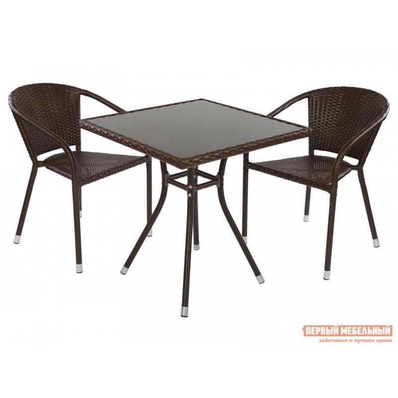 Комплект садовой мебели  CAFÉ Кофейный, ротанг