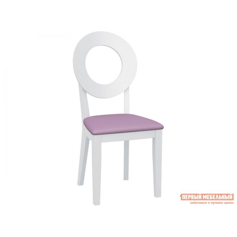 Стул  Стул Коломбо 2 с жесткой спинкой Каркас эмаль белая / Сиденье Nitro Purple, кожзам