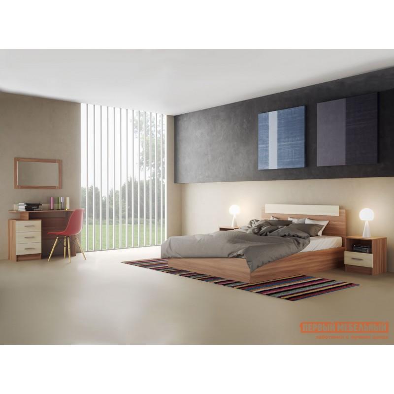 Двуспальная кровать  Кровать Эко Ясень шимо светлый / Ясень шимо темный, 1400 Х 2000 мм (фото 2)