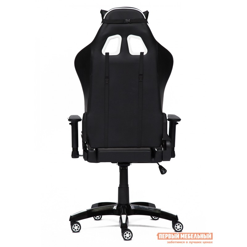 Игровое кресло  iBat Иск.кожа черная / Белая (фото 4)