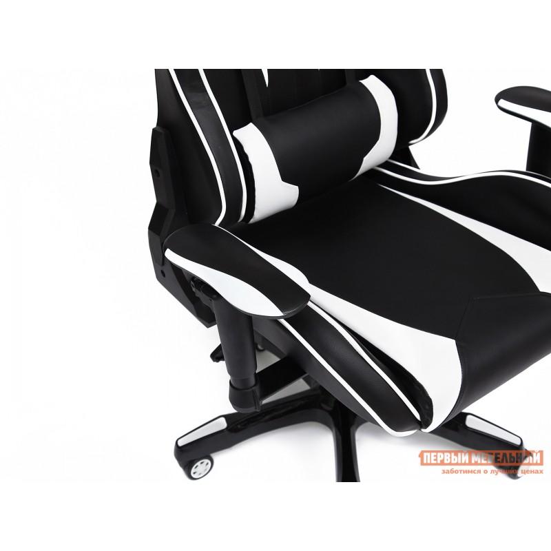Игровое кресло  iBat Иск.кожа черная / Белая (фото 5)