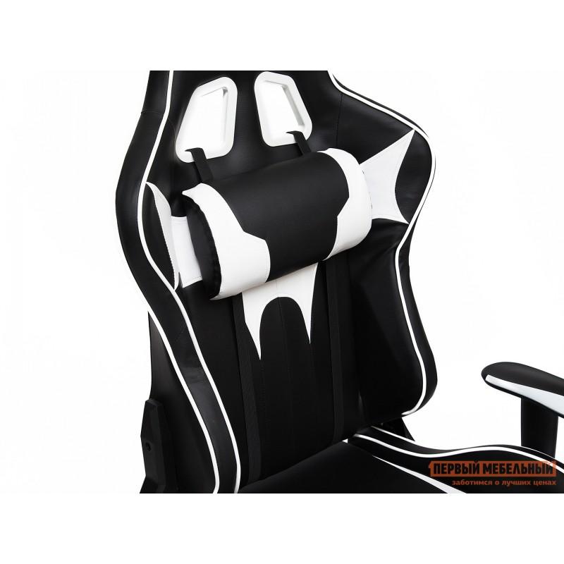 Игровое кресло  iBat Иск.кожа черная / Белая (фото 7)