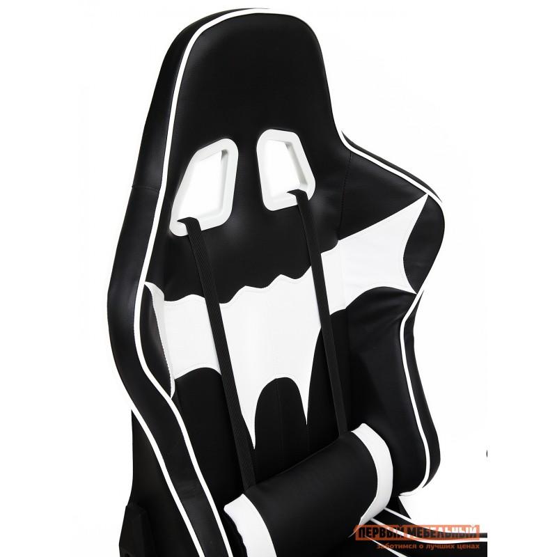 Игровое кресло  iBat Иск.кожа черная / Белая (фото 8)