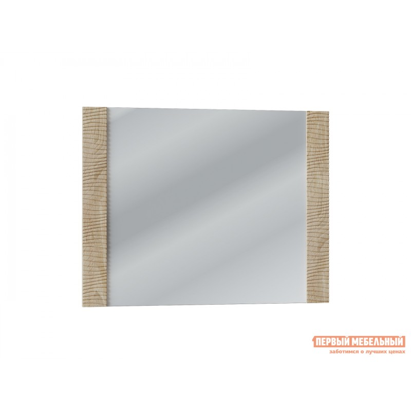 Настенное зеркало  Элегия Дуб сонома / Белый глянец