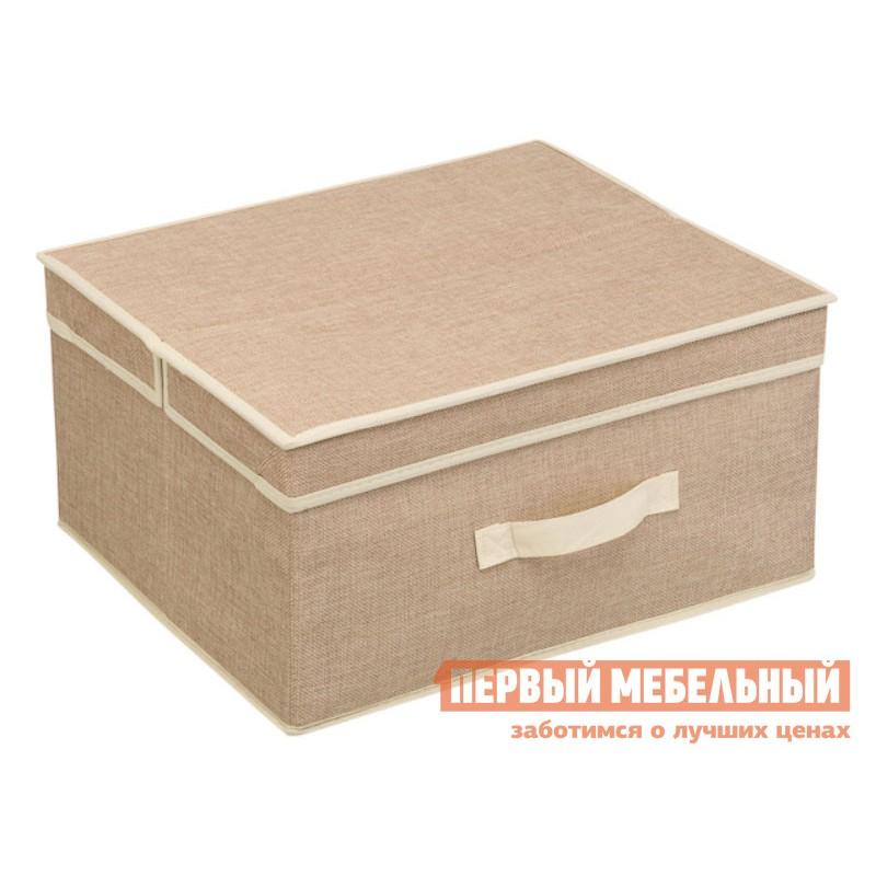 Кофр  Лен Песочный, полиэстер, M