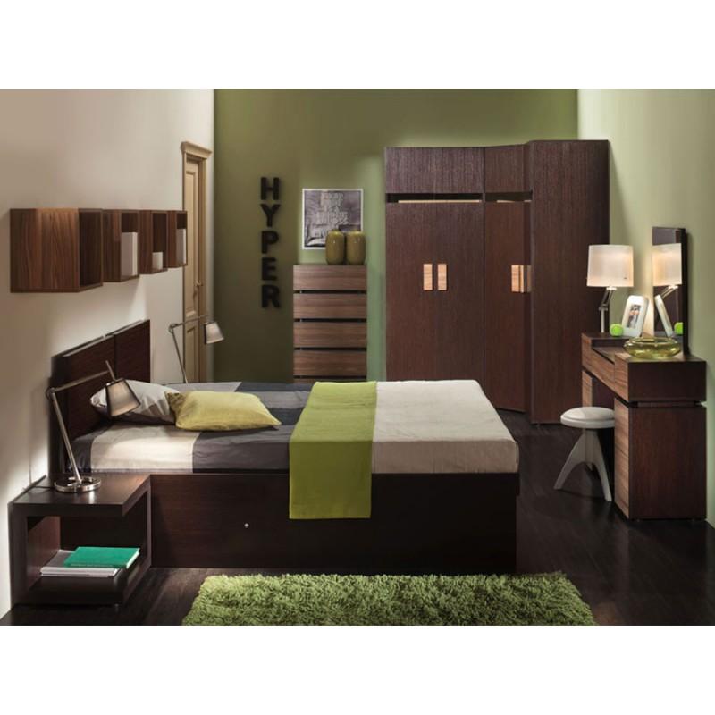 Распашной шкаф  Hyper Шкаф для белья 2 Венге, Правый (фото 2)
