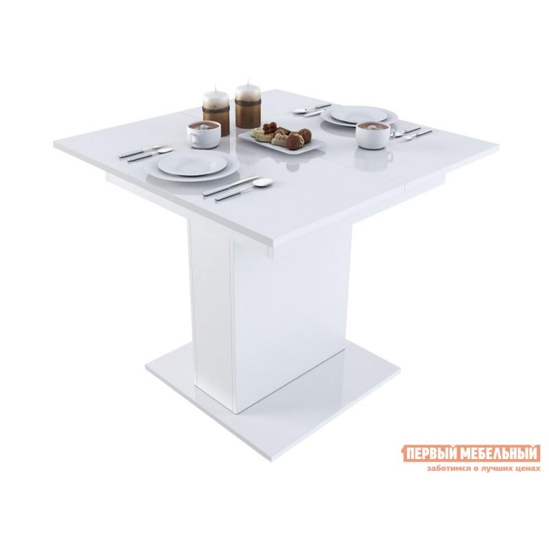Кухонный стол  Бергамо 4 Белый глянец
