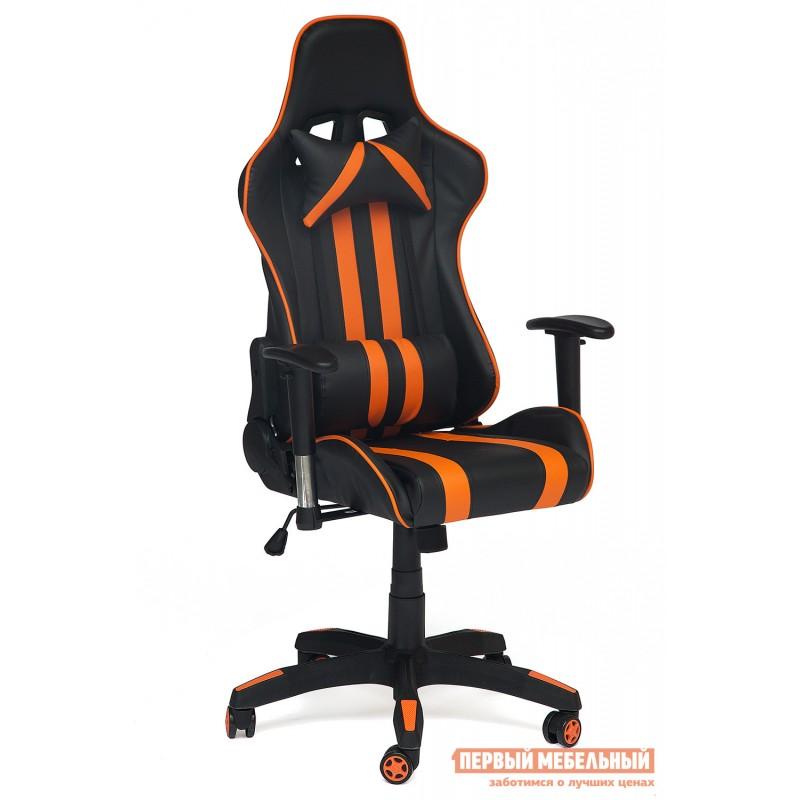 Игровое кресло  iCar Иск. кожа черная / оранжевая