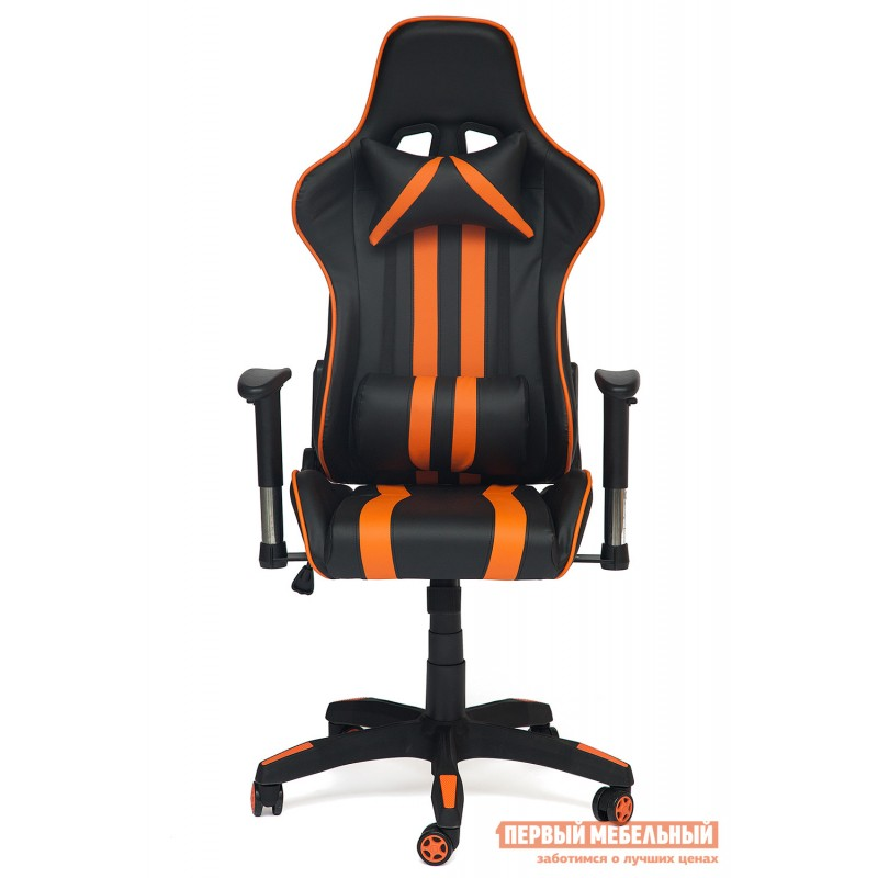 Игровое кресло  iCar Иск. кожа черная / оранжевая (фото 2)