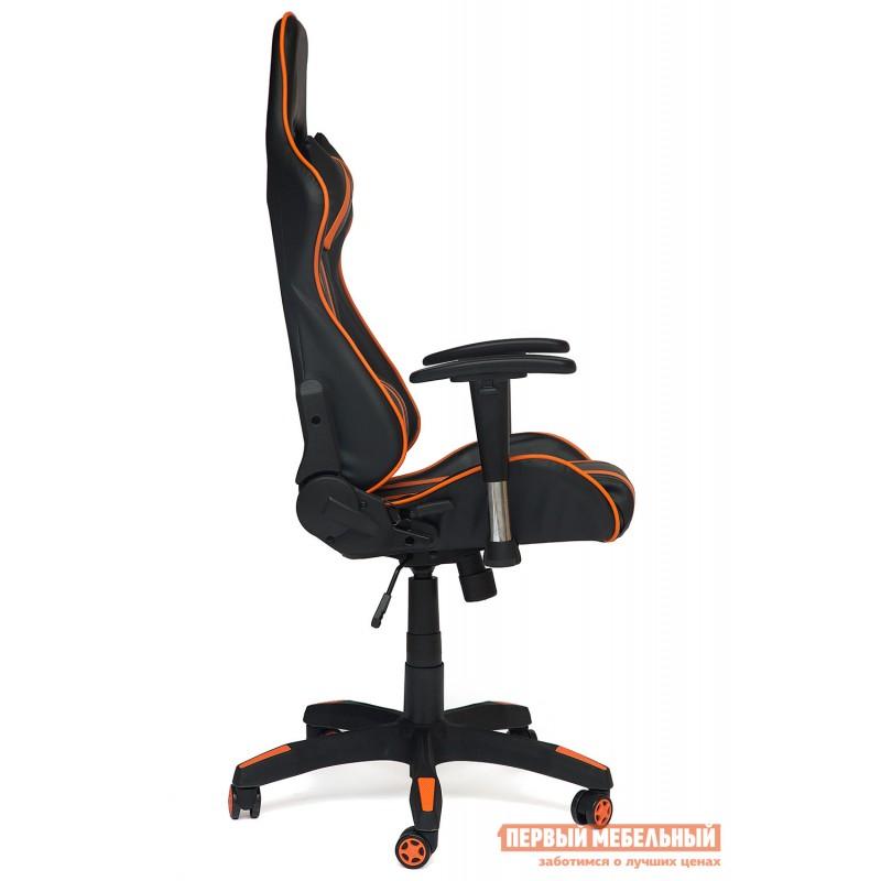 Игровое кресло  iCar Иск. кожа черная / оранжевая (фото 3)