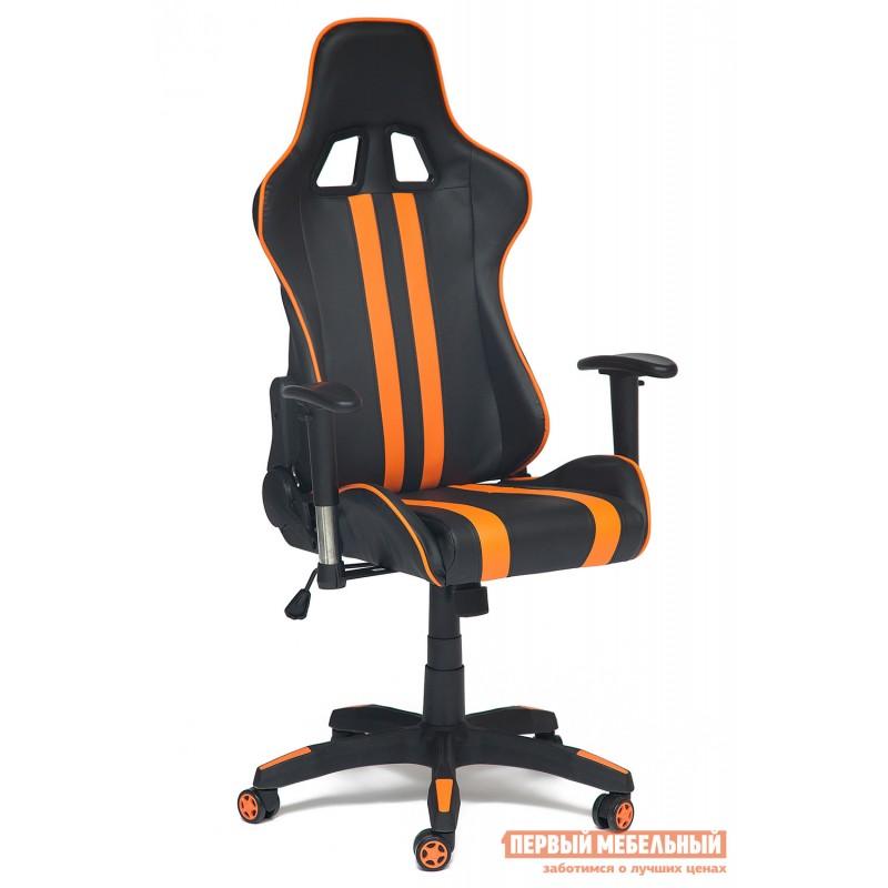 Игровое кресло  iCar Иск. кожа черная / оранжевая (фото 4)