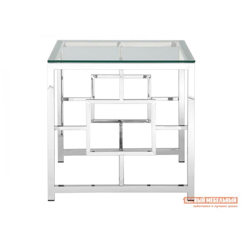 Журнальный столик  EET-013 Прозрачное стекло / Сталь, серебро (фото 2)