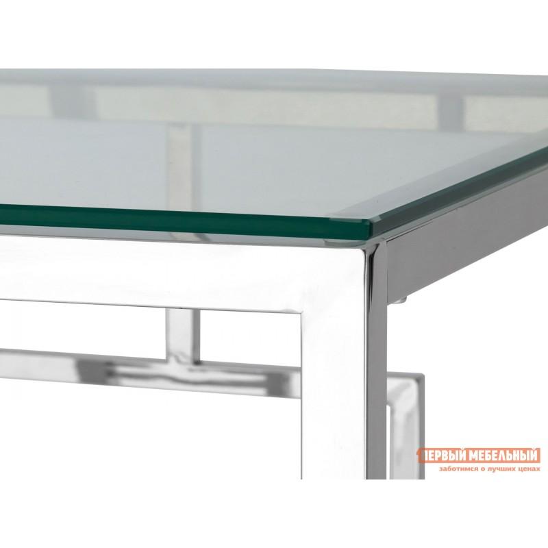 Журнальный столик  EET-013 Прозрачное стекло / Сталь, серебро (фото 3)