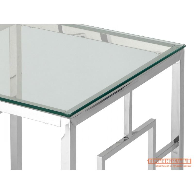 Журнальный столик  EET-013 Прозрачное стекло / Сталь, серебро (фото 4)