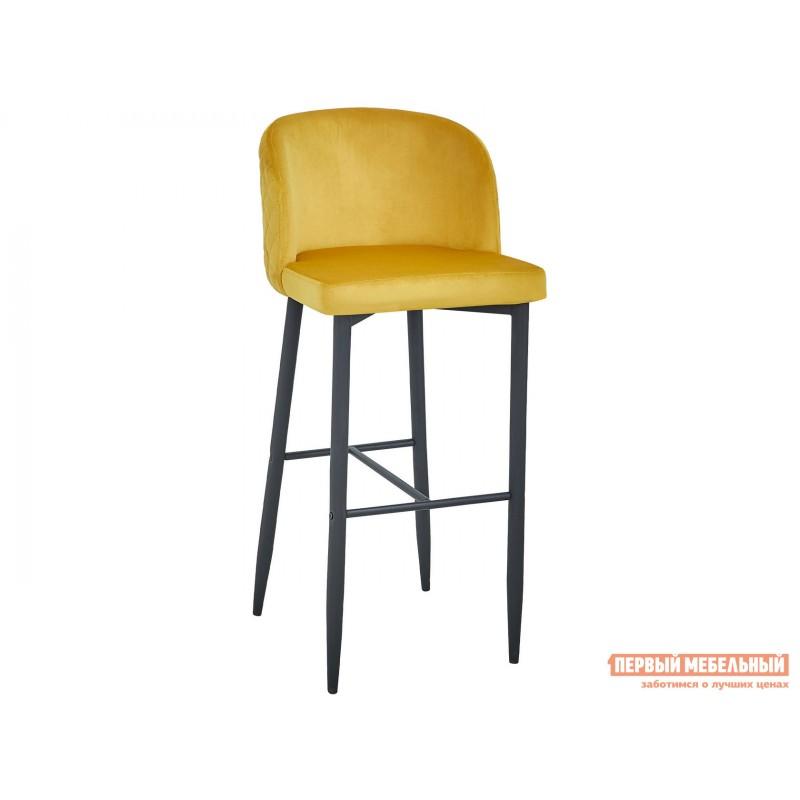 Барный стул  MC11B HLR-41 Оранжевый, велюр