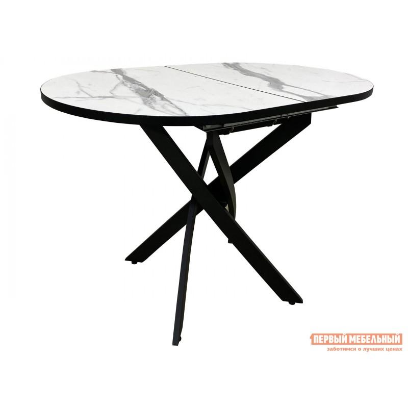 Кухонный стол  Стол Андромеда Мрамор / Черный муар, Большой