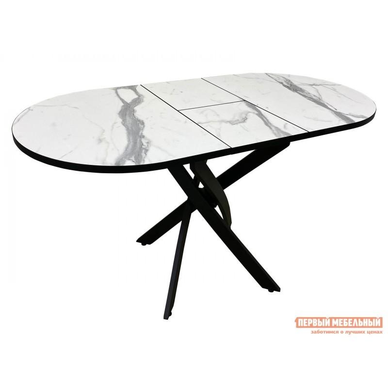 Кухонный стол  Стол Андромеда Мрамор / Черный муар, Большой (фото 2)