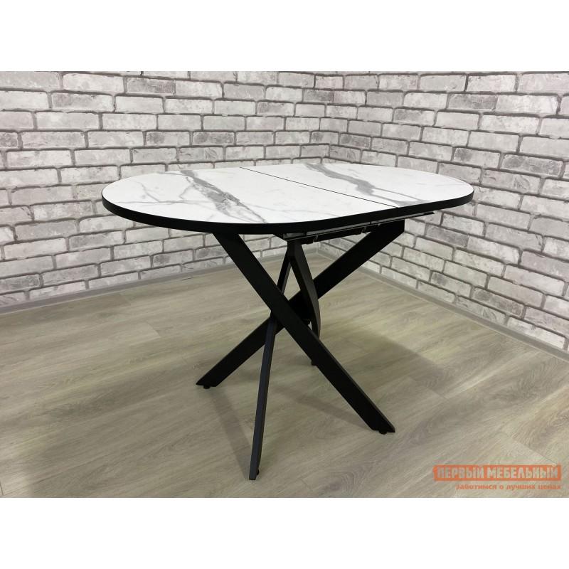 Кухонный стол  Стол Андромеда Мрамор / Черный муар, Большой (фото 3)