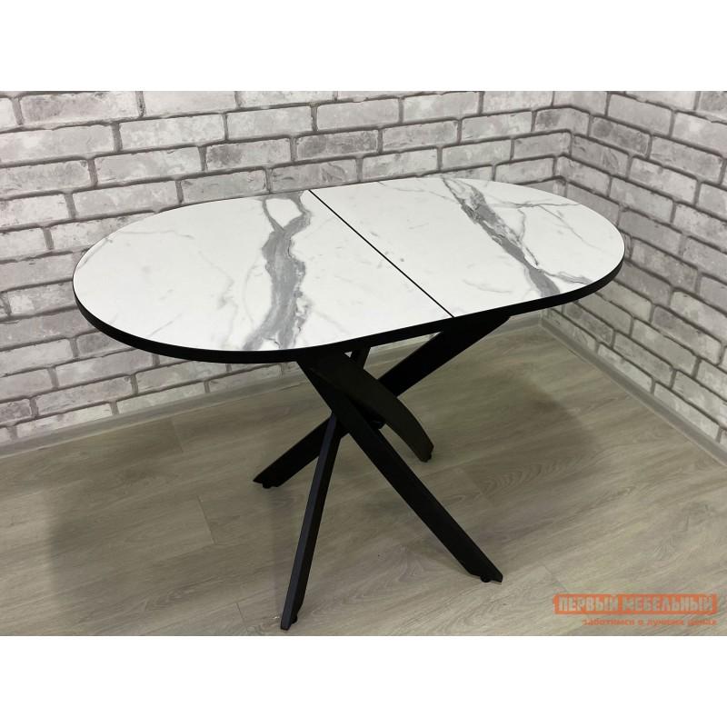 Кухонный стол  Стол Андромеда Мрамор / Черный муар, Большой (фото 4)