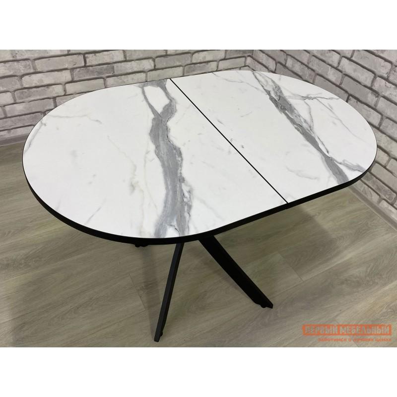 Кухонный стол  Стол Андромеда Мрамор / Черный муар, Большой (фото 5)