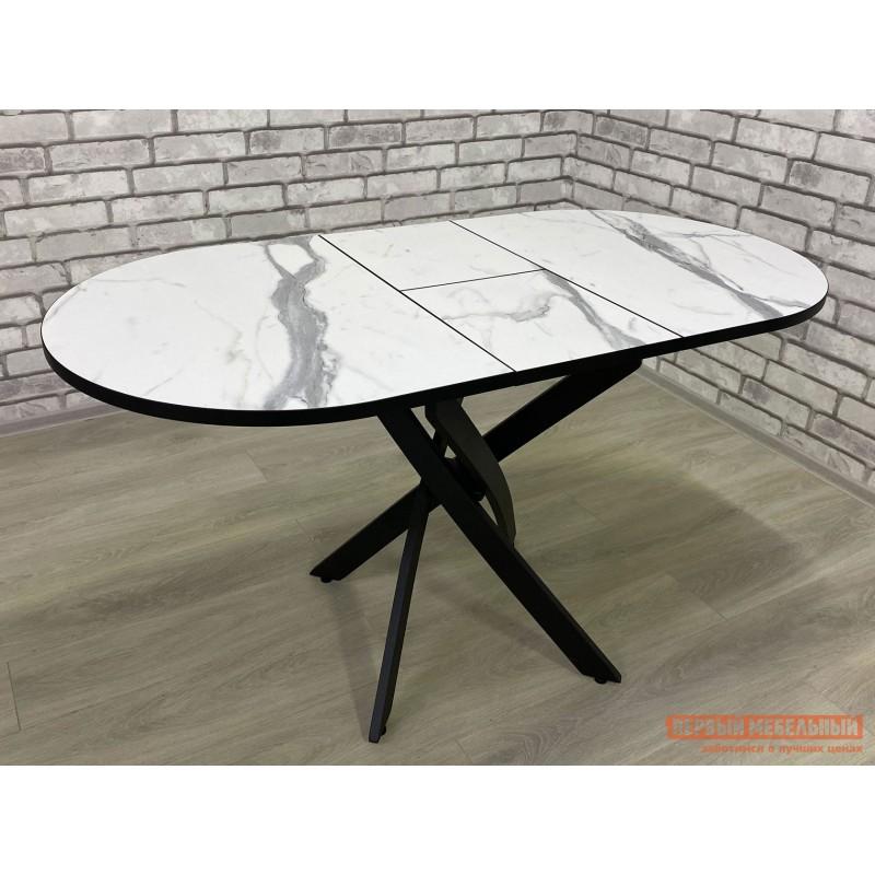 Кухонный стол  Стол Андромеда Мрамор / Черный муар, Большой (фото 6)