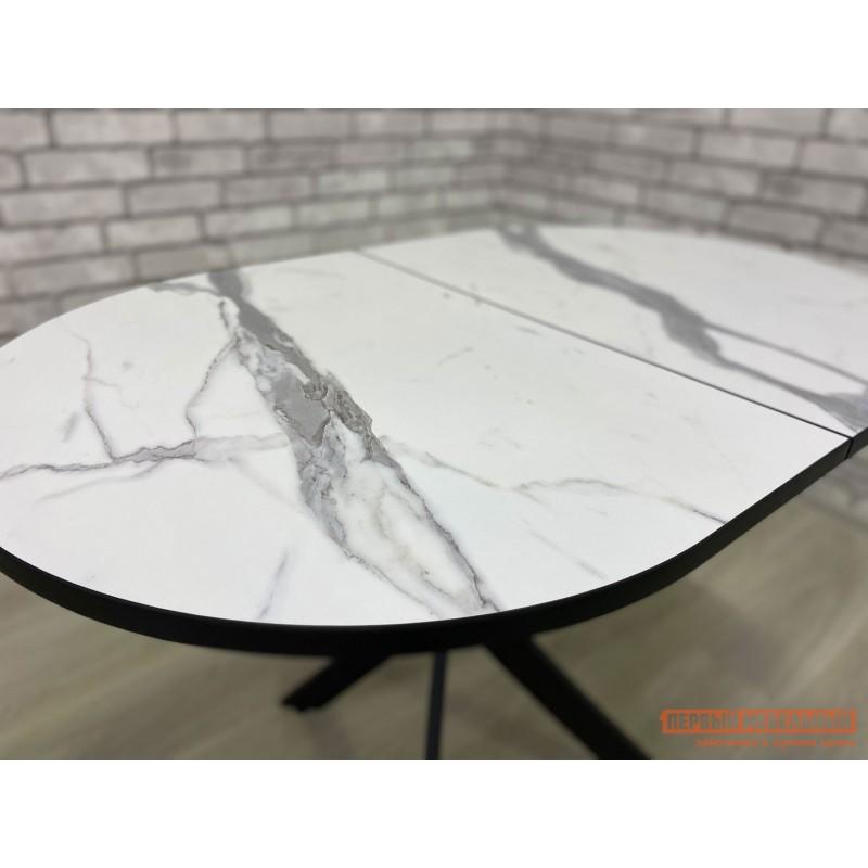 Кухонный стол  Стол Андромеда Мрамор / Черный муар, Большой (фото 7)