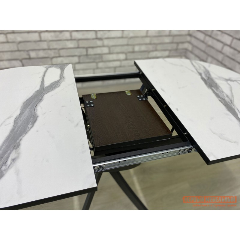 Кухонный стол  Стол Андромеда Мрамор / Черный муар, Большой (фото 9)